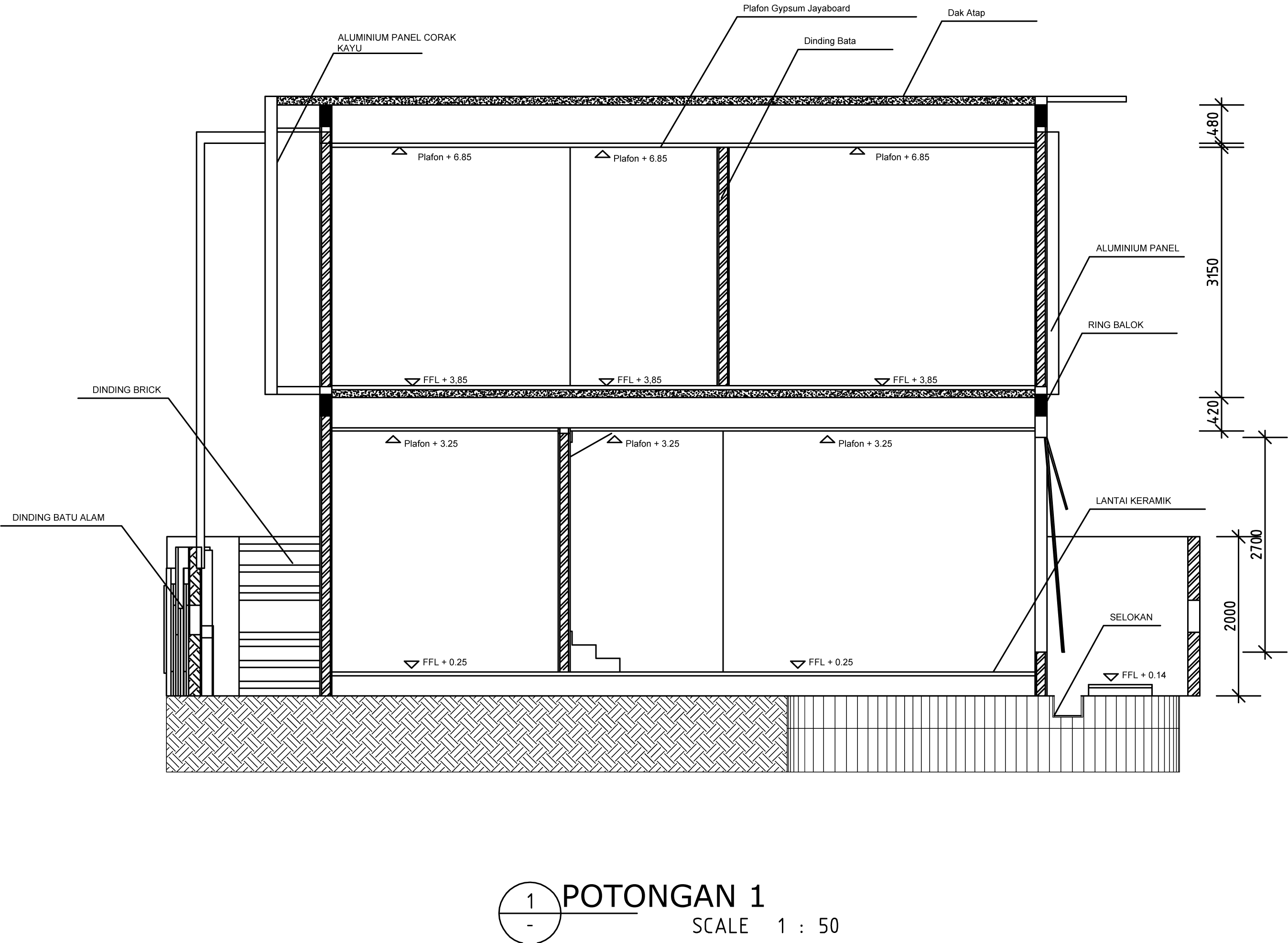 jasa gambar desain arsitek eksterior Jasa Arsitek Online
